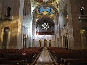 English: Interior of the Basilica of the Natio...
