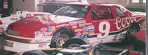 Bill Elliott car that set the record for the f...