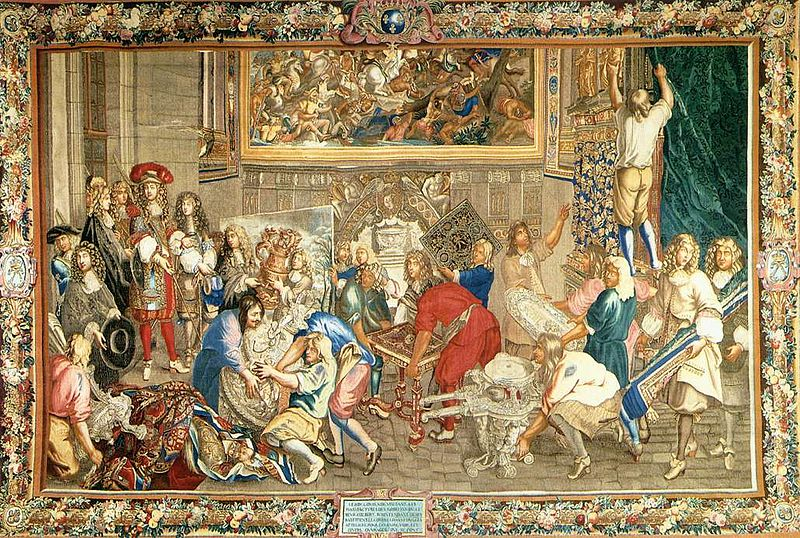 File:Charles Le Brun - Louis XIV Visiting the Gobelins Factory - WGA12552.jpg