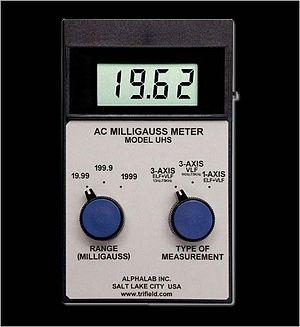 English: EMF Meter