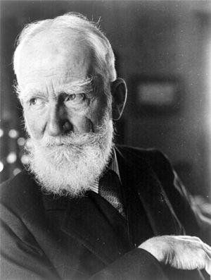 George Bernard Shaw, Irish playwright.