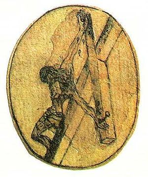 Drawing of the Crucifixion by St. John of the ...