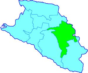 English: Map of Labinski Otdel, Kuban Oblast, ...