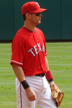 English: Michael Young, third baseman