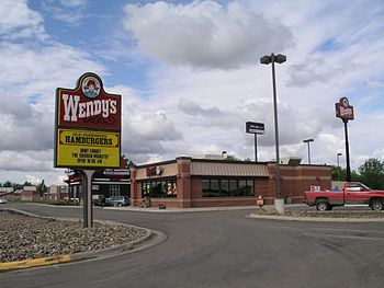 English: A Wendy's Restaurant in , USA.