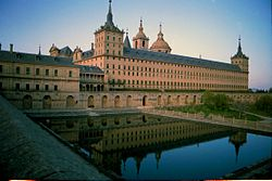 "A distant view of ""El Real Monasterio de El Escorial"""