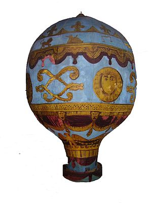 Model of the Montgolfier brothers balloon in t...