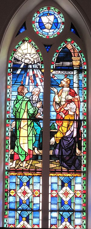 English: The Pentecost window at St. Matthew's...