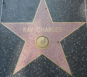 English: Ray Charles' star on the Hollywood Wa...