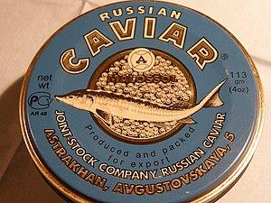 Deutsch: Dose mit russischem Kaviar