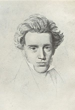 Drawing of Søren Kierkegaard. The Frederiksbor...