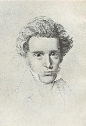 Drawing of Søren Kierkegaard. The Frederiksbor...