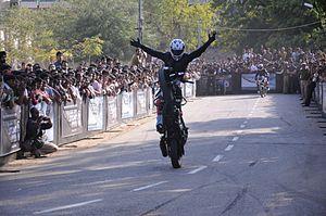 English: stunt mania
