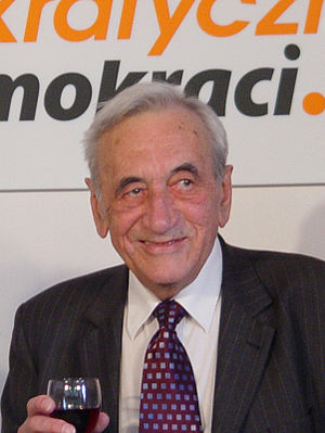 Tadeusz Mazowiecki on his 80th birthday party ...