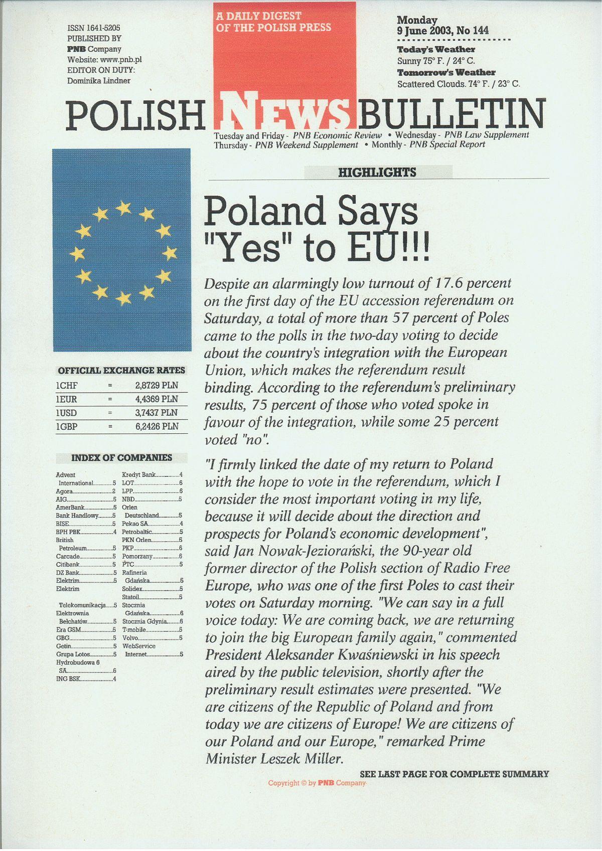 The Polish News Bulletin Wikipedia