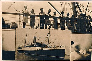 The Ship Corinthia, July 1947 Alexandria port....
