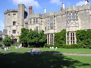 English: The west front of Thornbury Castle, T...