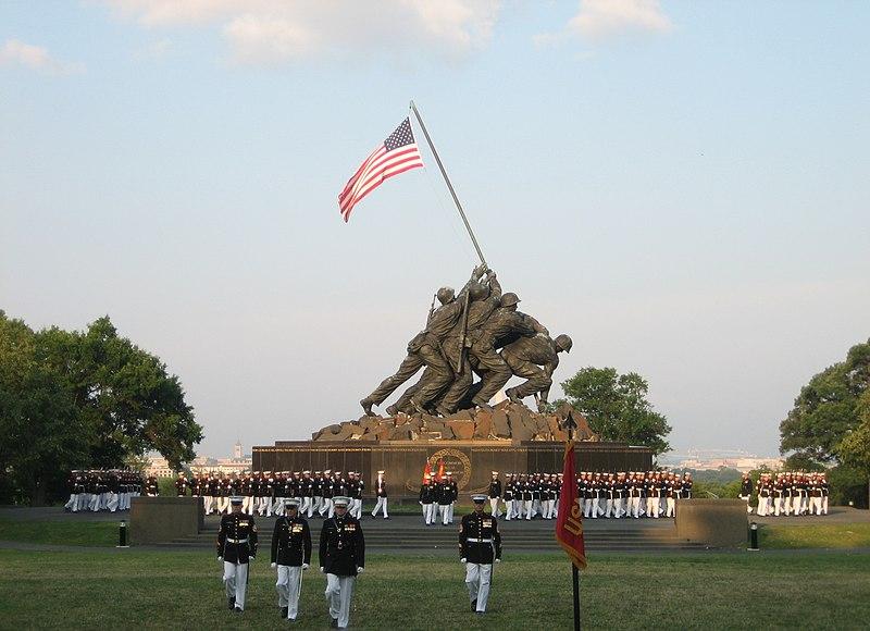 USMC War Memorial Sunset Parade 2008-07-08.jpg