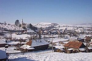 Vişea, Romania, in winter.