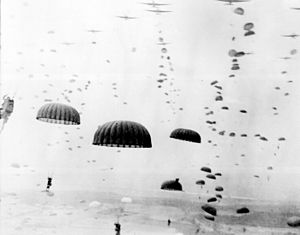 Waves of paratroops land in the Netherlands du...