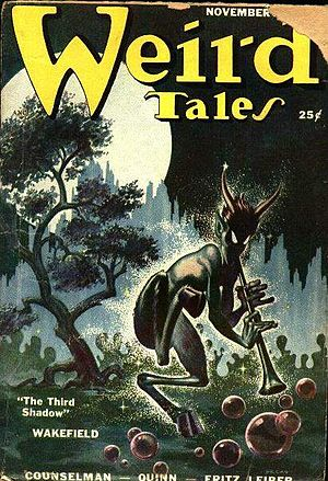 Cover of the pulp magazine Weird Tales
