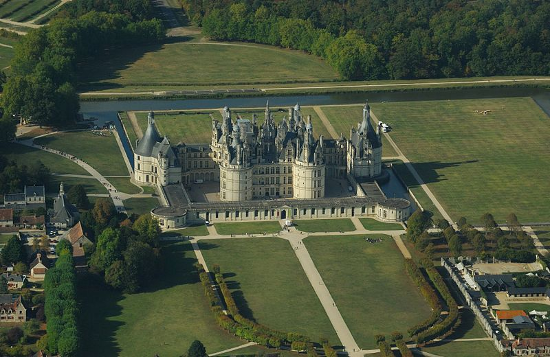 Chambord castle, aerial view