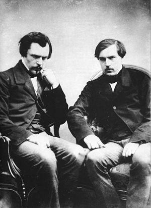 English: Photography of Edmond (left) and Jule...