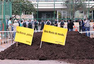 Português: Greenpeace faz manifestação com cam...