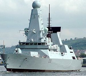 , the first Type 45 guided missile destroyer e...