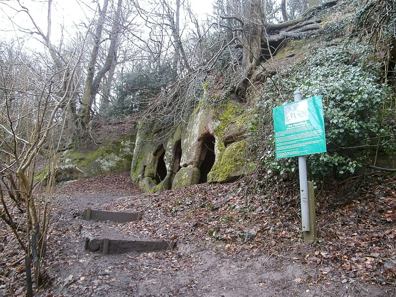 File:Hermits Cave (The Hermitage), Hermits Wood, Dale Abbey, Derbyshire - East Midlands of England - (1).jpg