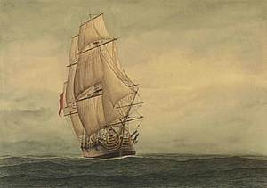 The Lady Penrhyn convict transport ship.
