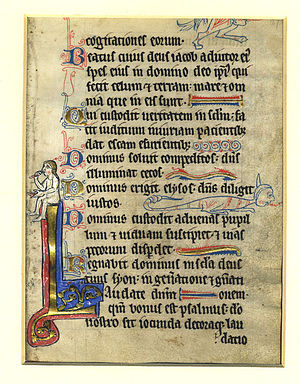 A medieval page presumably from a Book of Hour...