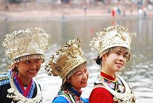 Miao girls in Guizhou province, China