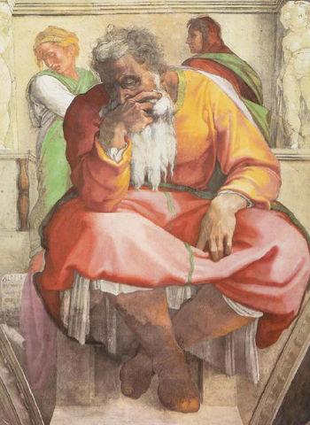 Il profeta Geremia - Michelangelo, volta della Cappella Sistina