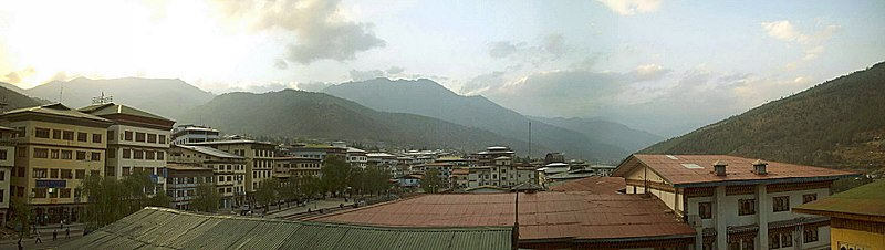 Panoramic view of Thimpu Bhutan