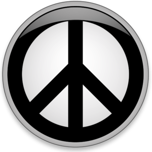 English: Peace button - Web 2.0 style