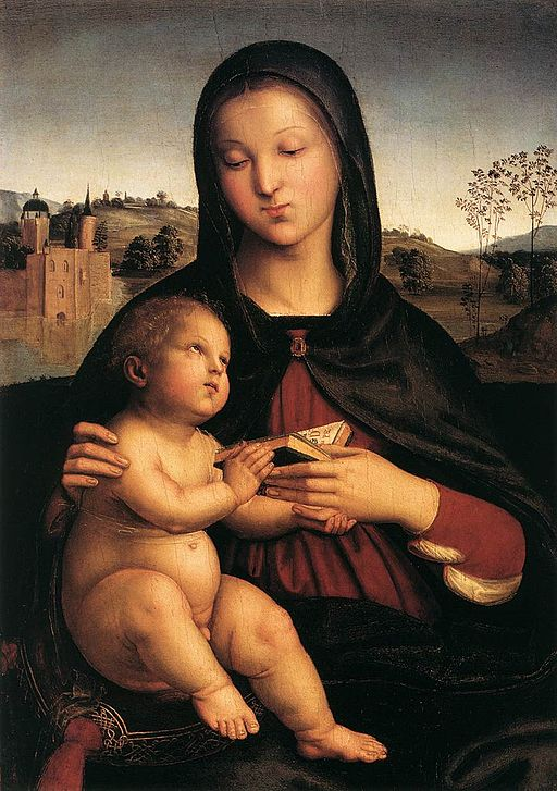 """Madonna and Child with the Book"" by Raphael"