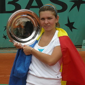 Simona Halep with the French Open Junior Champ...