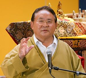 English: Sogyal Rinpoche teaching in Lerab Lin...