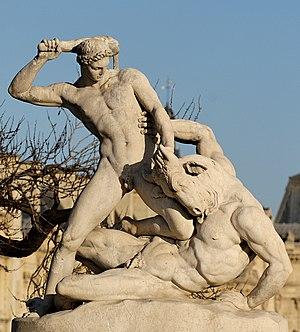 Theseus fighting the Minotaur by Étienne-Jules...