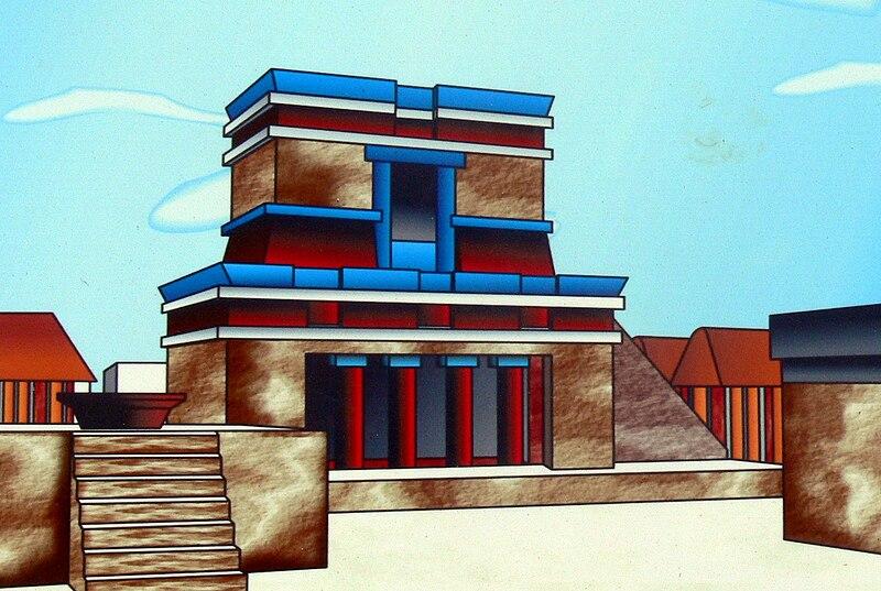 File:Tulum - Freskentempel Rekonstruktion.jpg
