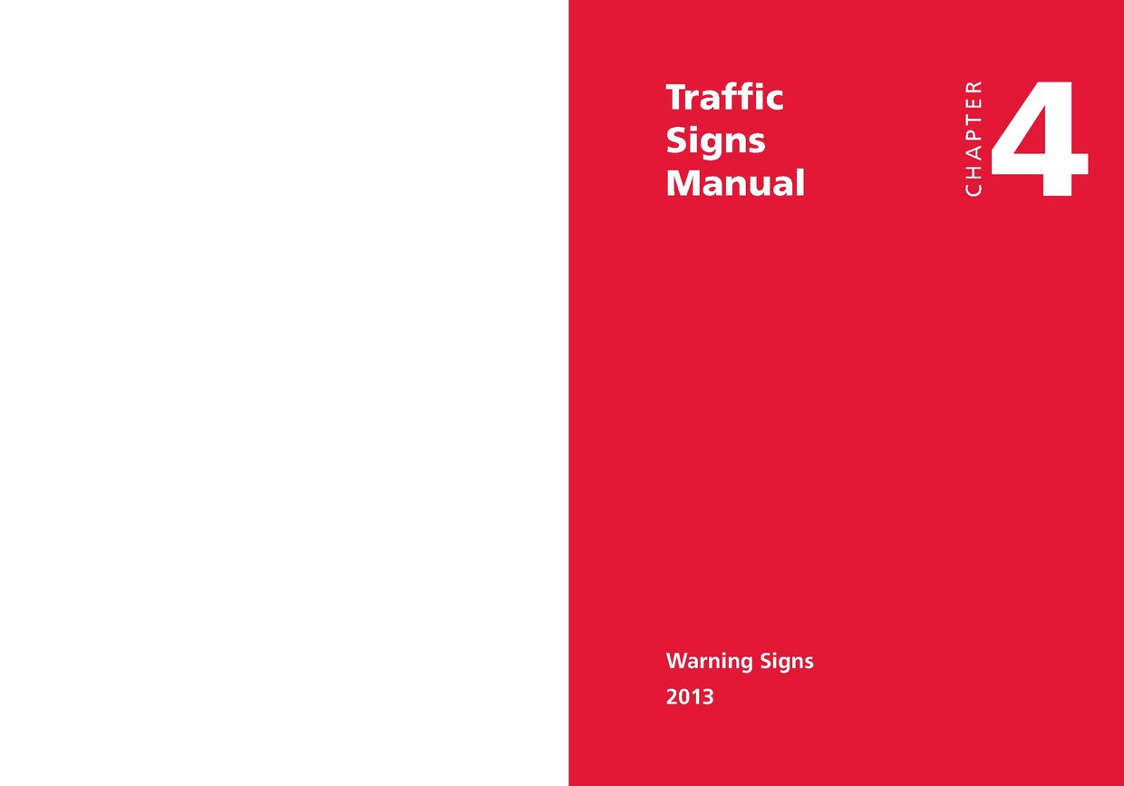 Page:UK Traffic Signs Manual