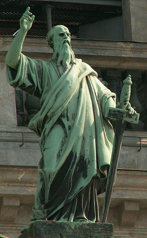 Apostle Paul on St.Isaac cathedral (SPb)