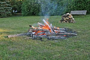 A bonfire.
