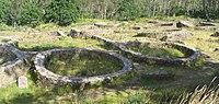 Castros celtas en Galicia, (España). Eran construcciones hechas para vivir en ellas.