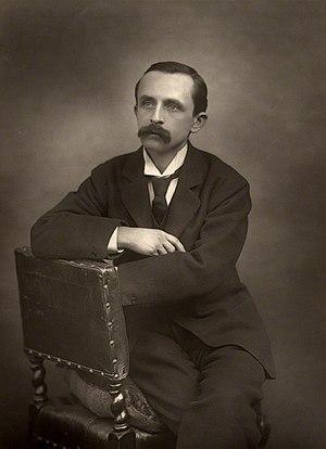 English: Sepia photograph of James Matthew Bar...