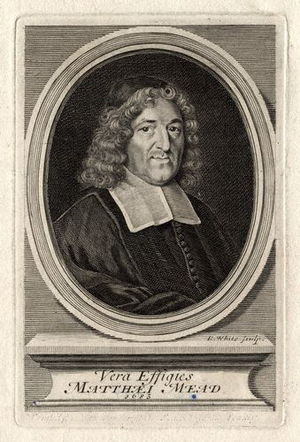 English: Engraving of Matthew Mead (Meade), no...