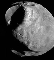 Fobos, fotografiado por la sonda Viking 1