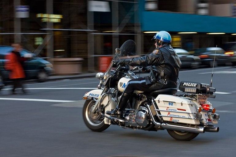 File:Police Motorcycle motion blur in Manhattan NYC.jpg
