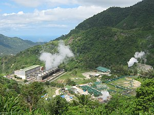 Palinpinon Geothermal power plant in Sitio Nas...
